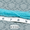 Thumbnail: Turquoise Transparent Glass Faceted Rondelle Beads 3mm