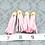 Thumbnail: Pink Suede Gold-tone Tassel Large