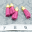 Thumbnail: Magenta Suede Gold-tone Tassel Small
