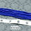 Thumbnail: Lapis Blue Glass Faceted Rondelle Beads 2mm