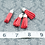 Thumbnail: Poppy Suede Silvertone Tassel Small