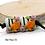 Thumbnail: Floral Black & White Striped Lampwork Bead Pair 6