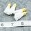 Thumbnail: White Suede Gold-tone Tassel Small