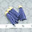 Thumbnail: Blue Violet Suede Gold-tone Tassel Large