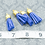 Thumbnail: Blue Suede Gold-tone Tassel Small