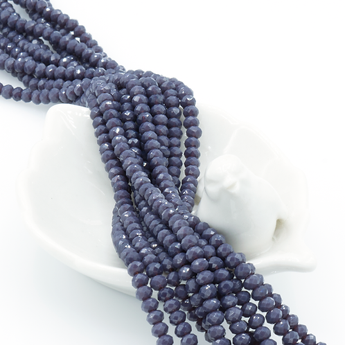 Thai Orchid Glass Faceted Rondelle Beads 3mm