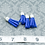 Thumbnail: Royal Blue Suede Silvertone Tassel Small