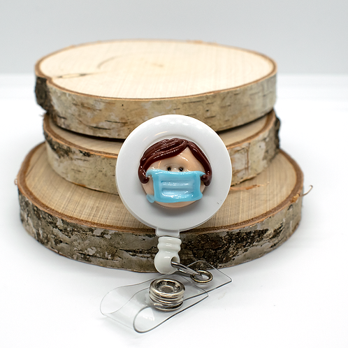 Custom Lampwork Mask Badge-pull