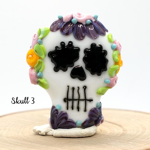 Día de los Muertos Skull Focal Bead 3