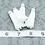 Thumbnail: White Suede Silver-tone Tassel Large