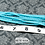 Thumbnail: Turquoise Glass Faceted Rondelle Beads 2mm