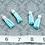 Thumbnail: Aqua Suede Silvertone Tassel Small