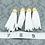 Thumbnail: White Suede Gold-tone Tassel Large