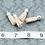 Thumbnail: Cream Suede Silvertone Tassel Small