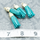 Thumbnail: Teal Suede Gold-tone Tassel Small