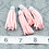 Thumbnail: Pink Suede Silver-tone Tassel Large