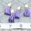 Thumbnail: Purple Suede Gold-tone Tassel Small