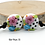 Thumbnail: Floral Black & White Dotted Lampwork Bead Pair 33
