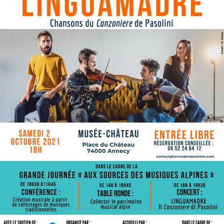 Ce 2 octobre, les musiques alpines investissent le Musée-Château d'Annecy !