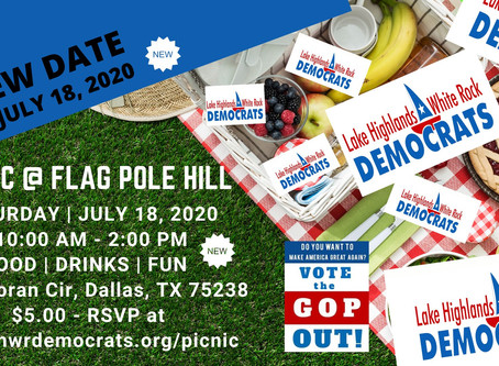 NEW DATE: Picnic Rescheduled for July 18, 2020