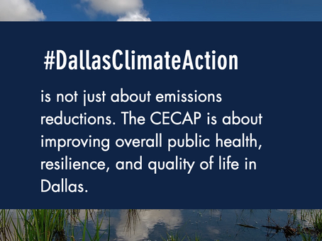 Dallas Climate Plan - YOUR INPUT IS NEEDED!
