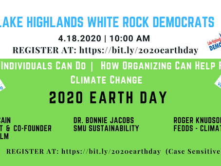 LHWR Democrats - Earth Day 2020 Zoom Webinar