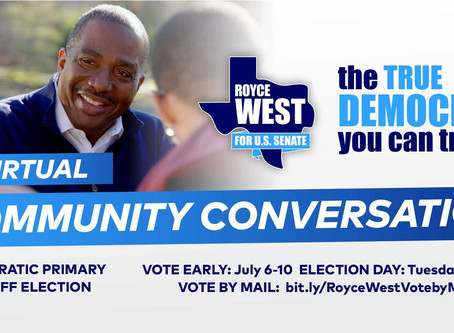Special Community Conversation with State Senator Royce West
