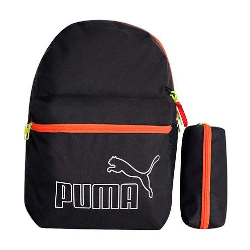 MOCHILA PUMA BLACK ORANGE - UNISEX