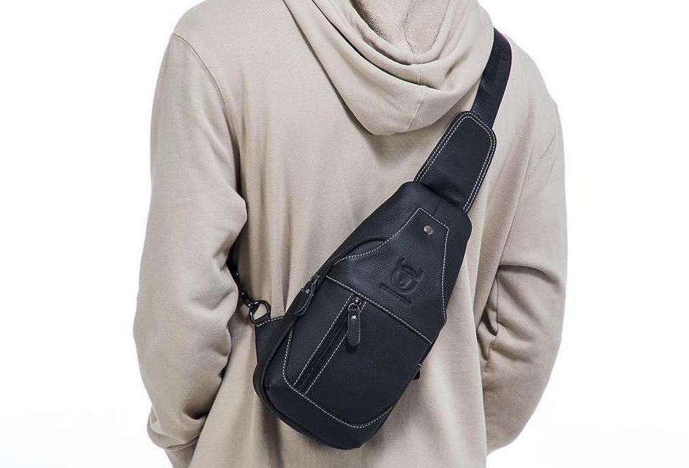 BULLCAPTAIN Genuine Leather Backpack