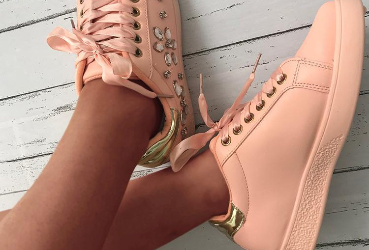 Shiny Embellished Sneakers