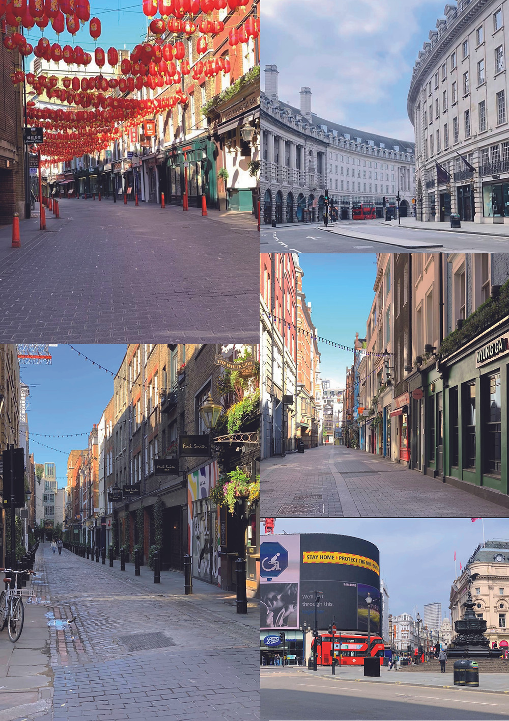 Amazing pictures of London during Covid19. Images by Michelle Pritchard.