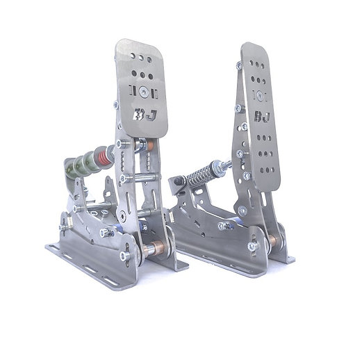 BJ F1 Pedal set Steel without baseplate.