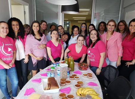 PHD promove café da manhã para conscietização de Outubro Rosa