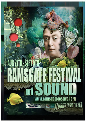 LARGE A2 Poster Artwork edition Festival Of Sound, Signed by artist