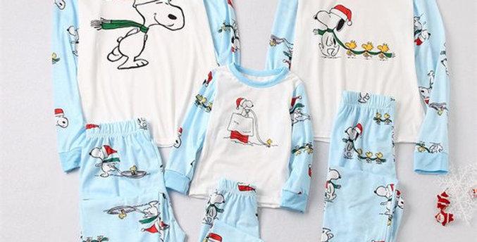 Snoopy Blue Christmas Family Pajamas
