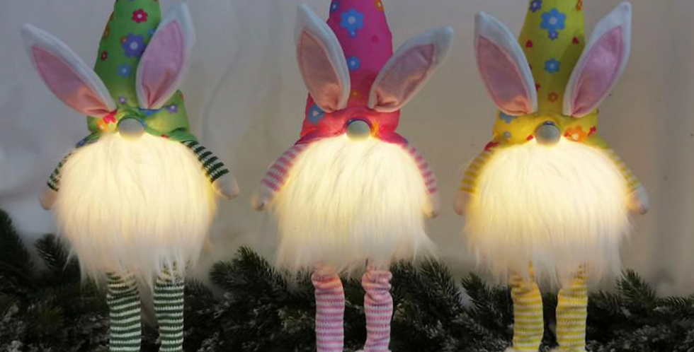 Lighted Easter Gnomes