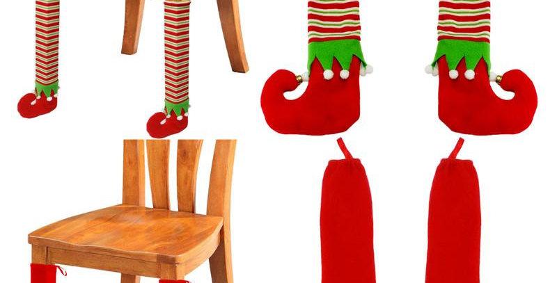 Christmas Legs Chair Covers