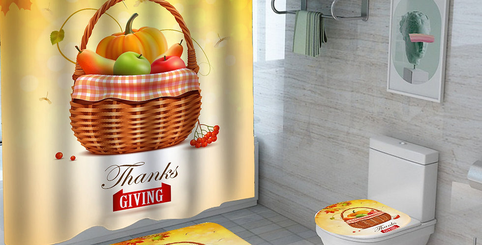 Thanks Giving Shower Curtain