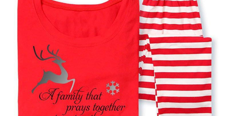 Final Sale Family That Prays Together Pajamas