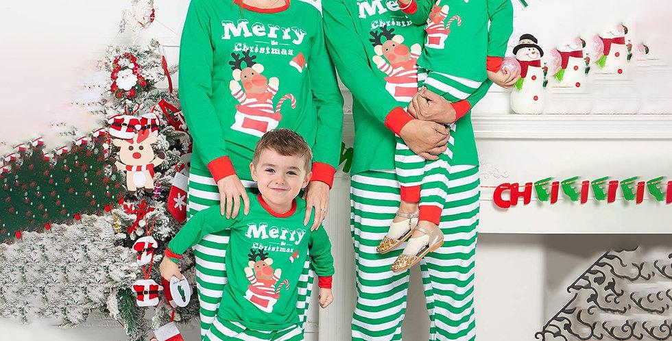Green Christmas Family Pajamas