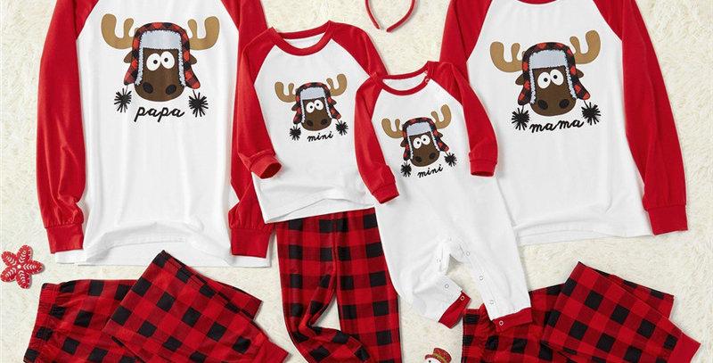 Deer Family Pajamas, Papa, Mama, Mini