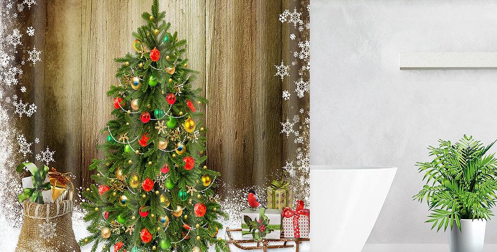Merry Christmas Tree Shower Curtain