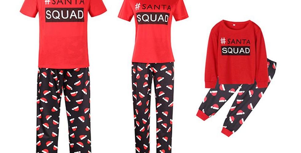 Santa Squad Christmas Family Pajamas