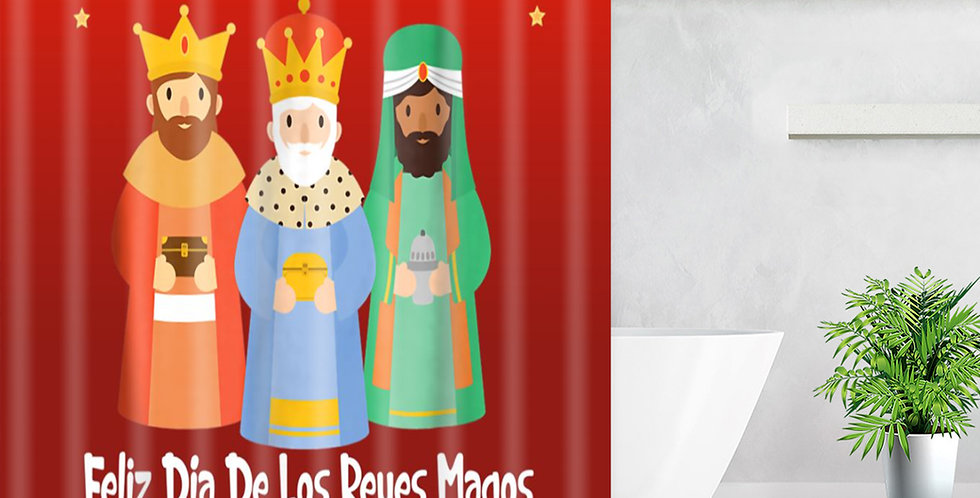 Three Kings Red Shower Curtain