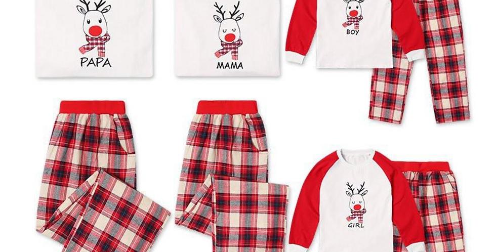 Papa, Mama, Boy, Girl, Christmas Family Pajamas