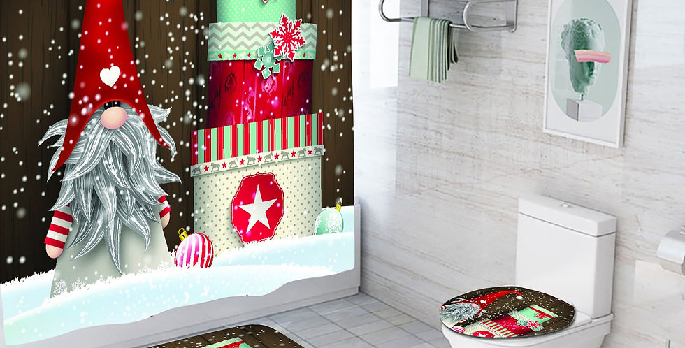 Gnome Gifts Shower Curtain