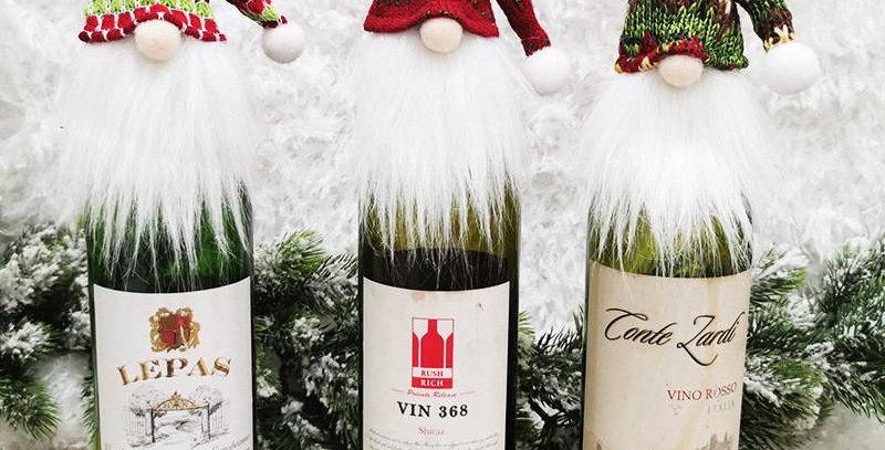 Wine Bottle Gnome Ornaments