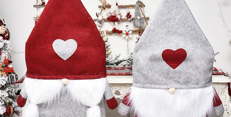 Gnomes Chair Covers with Hearts