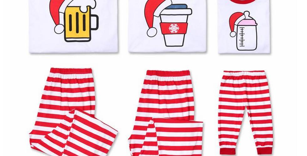 Beer, Coffee & Bottle Christmas Family Pajamas