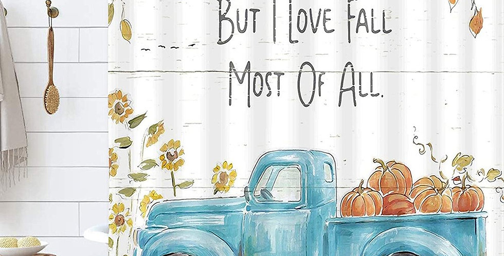 But I love Fall Shower Curtain